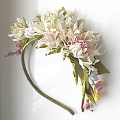 Украшения handmade. Livemaster - original item Headband with flowers, Tamarana headband, headband for girls. Handmade.