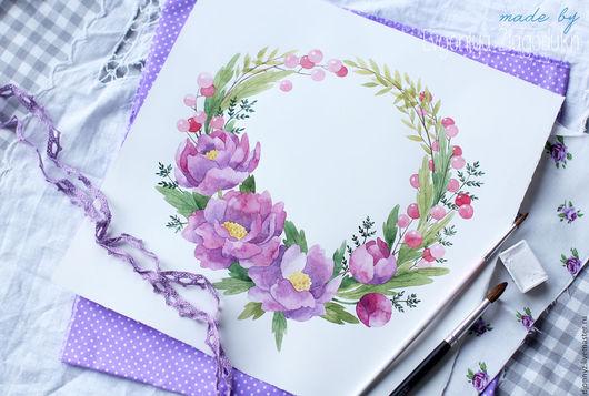 """Визитки ручной работы. Ярмарка Мастеров - ручная работа. Купить Логотип """"Лиловые цветы"""". Handmade. Комбинированный, лого, визитка мастера"""