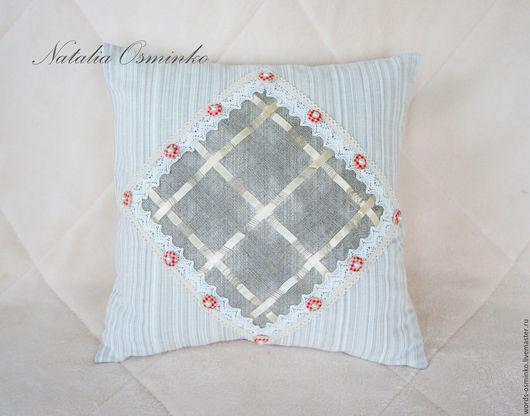 Текстиль, ковры ручной работы. Ярмарка Мастеров - ручная работа. Купить Подушка (в наличии) 35х35 см / льняная подушка/ декоративная подушка. Handmade.