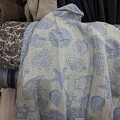 Для дома и интерьера ручной работы. Ярмарка Мастеров - ручная работа Полотенце из вареного льна.МОРЕ. Handmade.