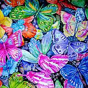 Картины и панно ручной работы. Ярмарка Мастеров - ручная работа Разноцветные бабочки. Handmade.