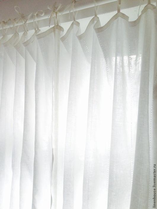 Текстиль, ковры ручной работы. Ярмарка Мастеров - ручная работа. Купить БЕЛЫЕ ЛЬНЯНЫЕ ШТОРЫ. ЕЩЕ ОДНО ВОЛШЕБСТВО. Handmade.