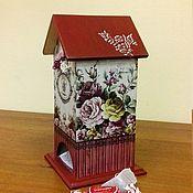 Для дома и интерьера ручной работы. Ярмарка Мастеров - ручная работа Домик для чайных пакетиков. Handmade.