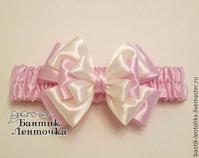 For Newborns handmade. Livemaster - handmade. Buy bow on discharge from the hospital.Ivory, bow, for newborn