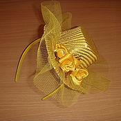 Украшения ручной работы. Ярмарка Мастеров - ручная работа Шляпка на ободке. Handmade.