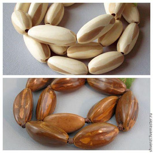 Для украшений ручной работы. Ярмарка Мастеров - ручная работа. Купить Бусины орехи Пили, 12-18х25-30 мм. Handmade.