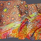 """Аксессуары ручной работы. Ярмарка Мастеров - ручная работа Батик шарф """"Музыкальный"""". Handmade."""