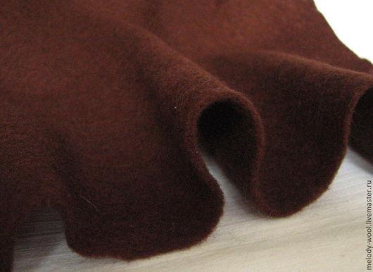 Валяние ручной работы. Ярмарка Мастеров - ручная работа. Купить Префельт шерсть 100%.Цвет Шоколад (Chocolate). Handmade. Коричневый