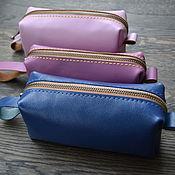handmade. Livemaster - original item Cosmetic bag genuine leather. Handmade.