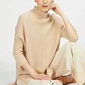 Одежда handmade. Livemaster - original item Cashmere sweater beige Women`s sweater beige. Handmade.