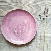"""Посуда ручной работы. Ярмарка Мастеров - ручная работа Лавандовые тарелки ручной работы. Серия """"Травы"""". Handmade."""