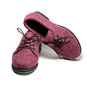 Обувь ручной работы handmade. Livemaster - original item Felted shoes Cranberries. Handmade.