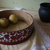Русский стиль handmade. Livemaster - original item dishes: Vintage sieve, pyermogori painting. Handmade.