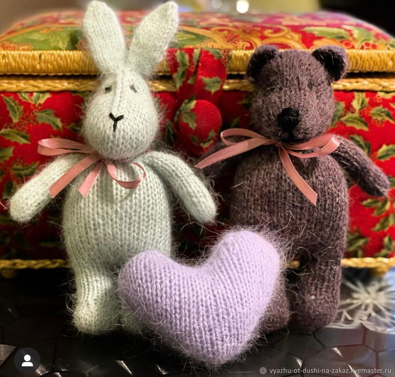 заяц и медведь, Мягкие игрушки, Москва,  Фото №1