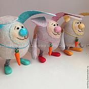 Куклы и пупсы ручной работы. Ярмарка Мастеров - ручная работа Пасхальный кролик Круглик. Handmade.