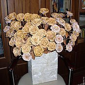 Цветы и флористика handmade. Livemaster - original item roses made of birch bark. Handmade.