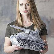 Куклы и игрушки ручной работы. Ярмарка Мастеров - ручная работа Плюшевая игрушка танк Пантера. Handmade.
