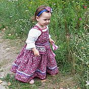 Русский стиль handmade. Livemaster - original item Gingham sundress