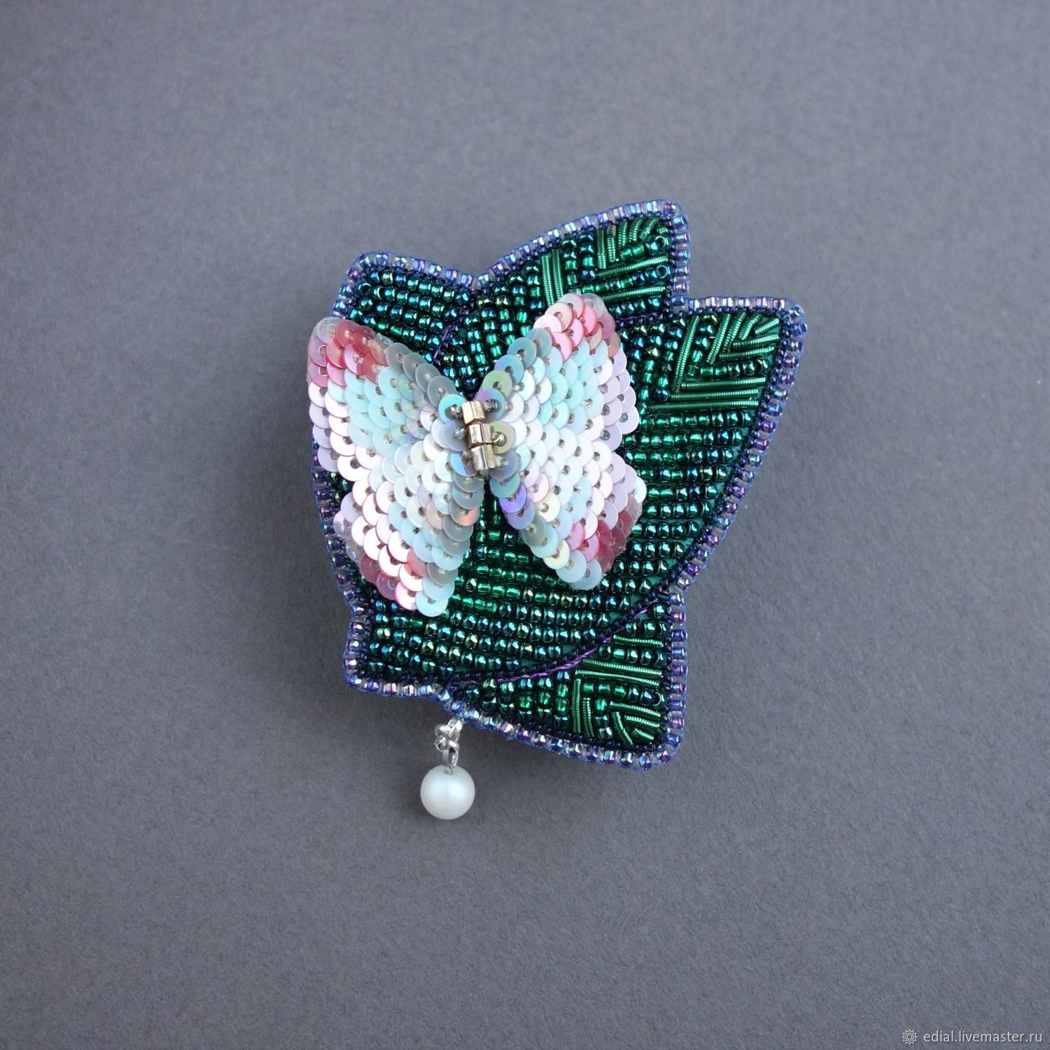 Clip Spring beads, sequins, riffle, pearls, Brooches, Moscow,  Фото №1