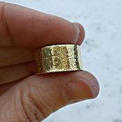 Кольца ручной работы. Ярмарка Мастеров - ручная работа Кольцо Скоро весна латунное широкое кольцо с рисунком узором. Handmade.