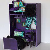 """Куклы и игрушки ручной работы. Ярмарка Мастеров - ручная работа Румбокс фиолетовый """"Сквозь леса"""" с большим набором аксессуаров. Handmade."""