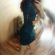 Одежда ручной работы. Ярмарка Мастеров - ручная работа вязанное платье с кружевом. Handmade.