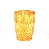 Посуда ручной работы. Ярмарка Мастеров - ручная работа Стакан кружка деревянная для чая кваса морсов из натурального кедра K1. Handmade.