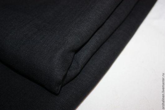 Шитье ручной работы. Ярмарка Мастеров - ручная работа. Купить Ткань платьевая. Handmade. Черный, льняные ткани, ткань для одежды