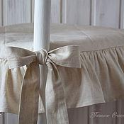 Чехлы и кофры ручной работы. Ярмарка Мастеров - ручная работа Чехол на стул с рюшами в винтажном стиле. Handmade.
