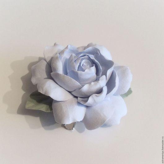 Заколки ручной работы. Ярмарка Мастеров - ручная работа. Купить Заколка цветок голубой пион из полимерной глины. Handmade.