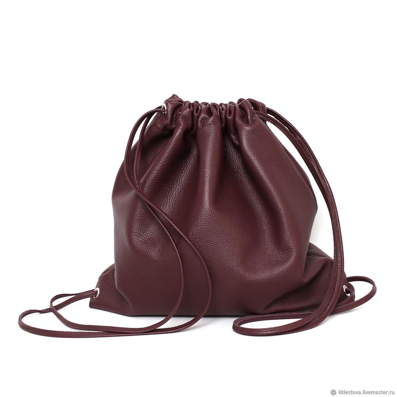 Backpacks handmade. Livemaster - handmade. Buy Burgundy soft Leather backpack bag medium Marsala cherry.Cherry, burgundy