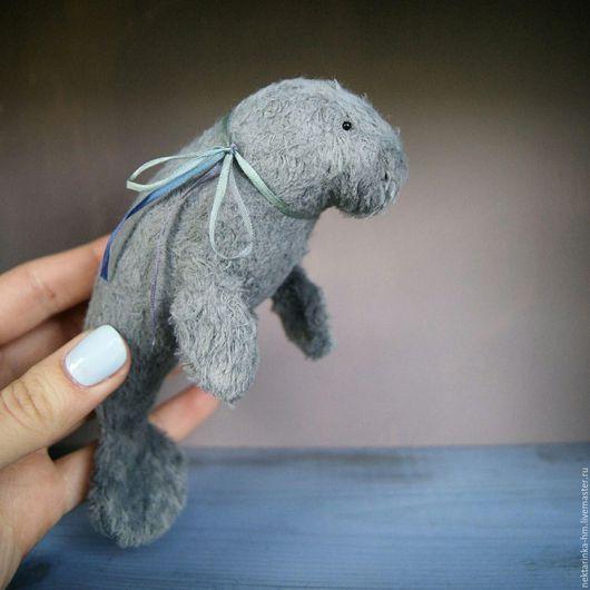 Мишки Тедди ручной работы. Ярмарка Мастеров - ручная работа. Купить Ламантин. Handmade. Комбинированный, морские жители, талисман на удачу