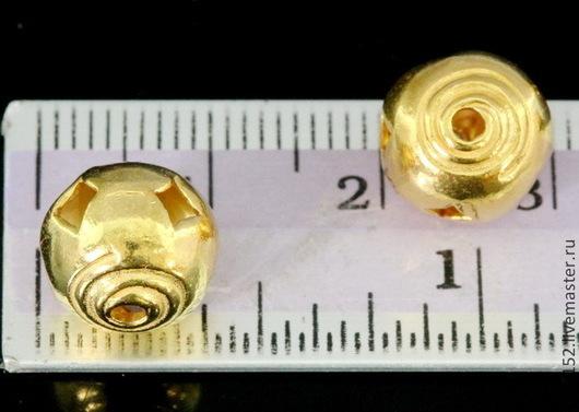 Для украшений ручной работы. Ярмарка Мастеров - ручная работа. Купить Серебро 925  оба цвета бусина 10 мм. Handmade.