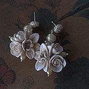 """Свадебный салон ручной работы. Ярмарка Мастеров - ручная работа Серьги """"Дикая орхидея"""". Handmade."""