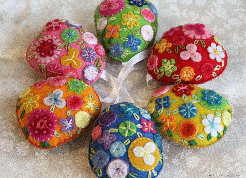 Easter eggs, souvenir on Easter, suspension, pincushion, 9h8 cm, Christmas decorations, Novosibirsk,  Фото №1