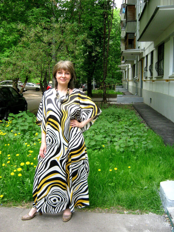 Пляжное платье Зебра длинное, Платья, Москва, Фото №1