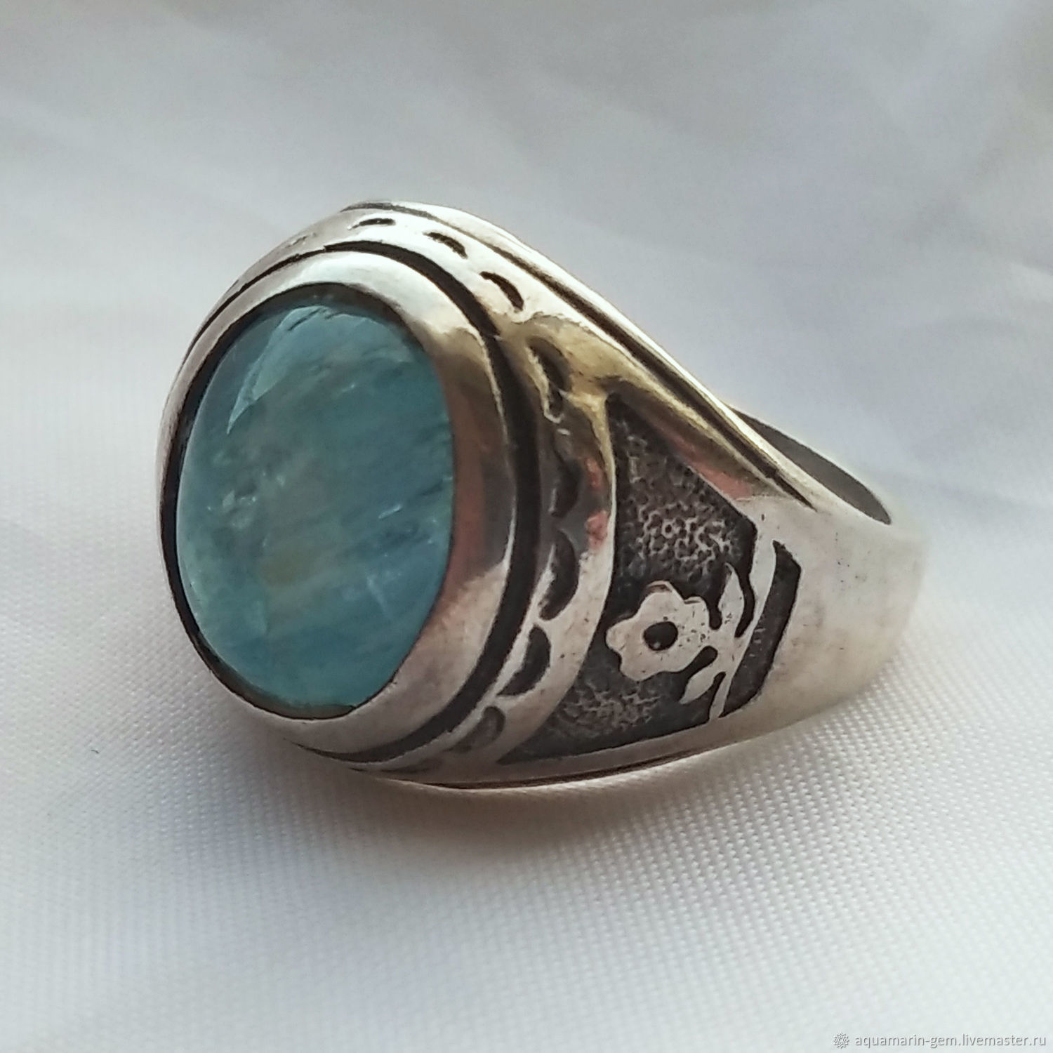 Ring with aquamarine, Rings, Moscow,  Фото №1
