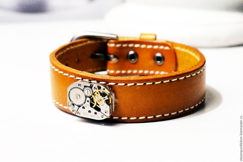 Украшения для мужчин, ручной работы. Ярмарка Мастеров - ручная работа. Купить Кожаный браслет мужской подарок мужчине мужу шефу на день рождения. Handmade.