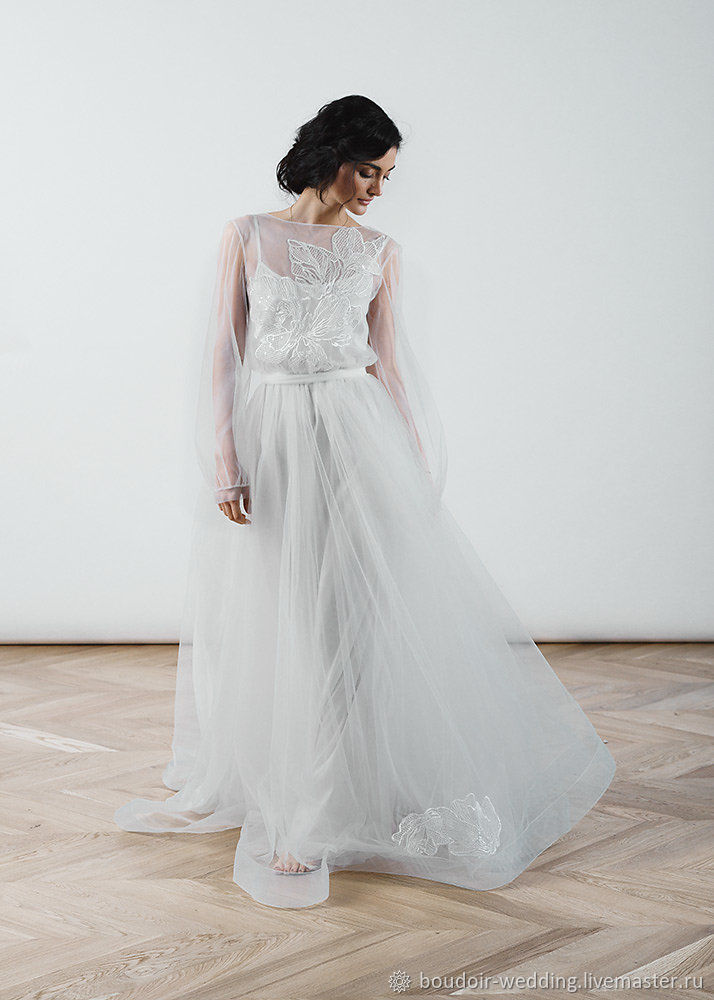 Clothing Accessories Handmade Livemaster Concise Wedding Gown In Rustic Style