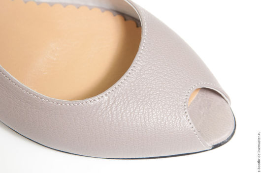 Обувь ручной работы. Ярмарка Мастеров - ручная работа. Купить Босоножки  Ameli. Handmade. Серый, кожаная обувь
