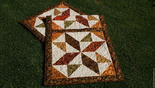 Текстиль, ковры ручной работы. Ярмарка Мастеров - ручная работа. Купить Коврик для дивана Янтарное кружево. Handmade. Коричневый
