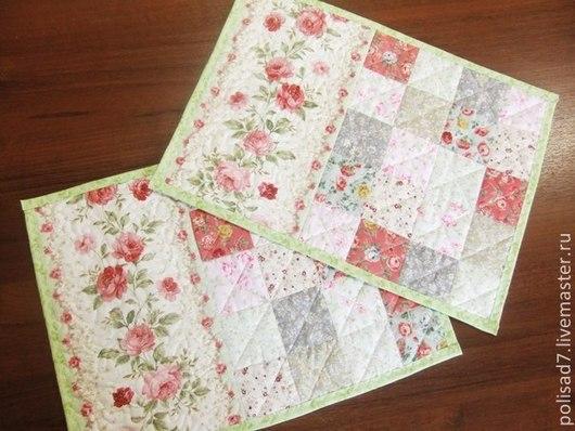 """Текстиль, ковры ручной работы. Ярмарка Мастеров - ручная работа. Купить Ланчматы """"Розовый сад"""". Handmade. Разноцветный, лоскутные изделия"""