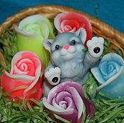 """Подарки к праздникам ручной работы. Ярмарка Мастеров - ручная работа набор """"кошечка в розах"""". Handmade."""