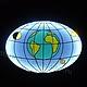 Мебель ручной работы. Овальный журнальный столик с подсветкой Вселенная. Александр СветМебель (artfurniture). Ярмарка Мастеров. Овальный столик