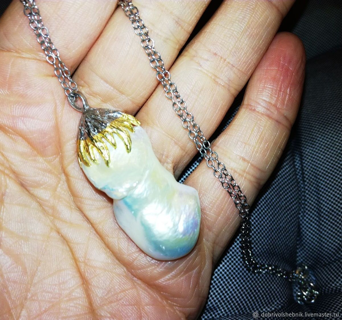 Sirena pendant with large natural pearls, Pendants, Novaya Usman,  Фото №1