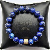 Украшения handmade. Livemaster - original item Stunning bracelet of genuine lapis lazuli. Handmade.