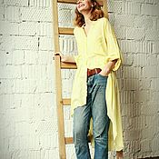 Одежда handmade. Livemaster - original item Asimetrica shirt Lemon. Handmade.