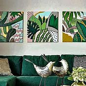 Картины и панно handmade. Livemaster - original item Pictures: Abstract triptych