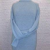 Одежда handmade. Livemaster - original item Sweaters: mohair silk blue Tenderness. Handmade.
