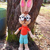 Куклы и игрушки ручной работы. Ярмарка Мастеров - ручная работа Кролик из мультфильма о Винни-пухе (вязанная игрушка). Handmade.